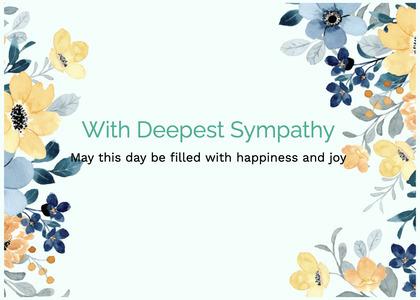 sympathy card 113 floraldesign graphics