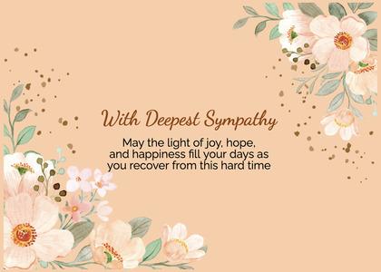 sympathy card 122 graphics art