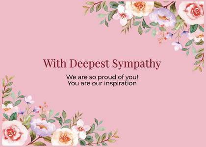 sympathy card 129 graphics art