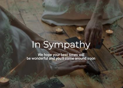 sympathy card 15 person human