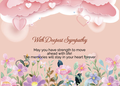 sympathy card 151 paper mail