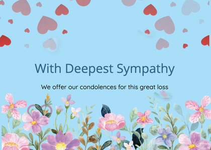sympathy card 160 paper mail
