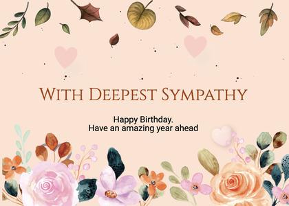 sympathy card 163 bird plant