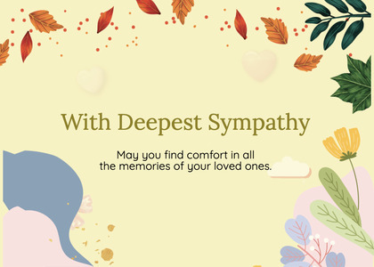 sympathy card 178 paper mail