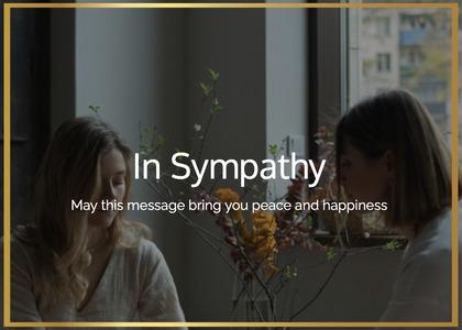 sympathy card 18 person human