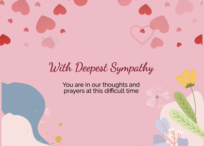 sympathy card 180 paper flyer