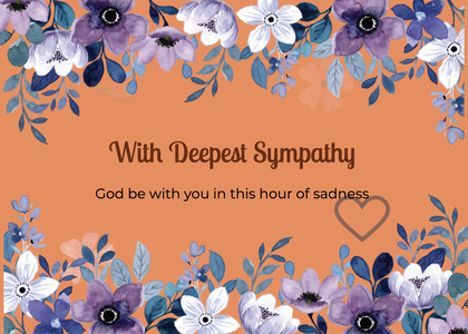 sympathy card 183 floraldesign graphics