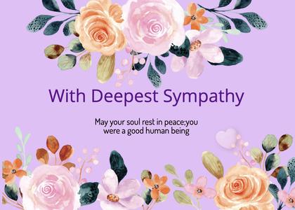 sympathy card 184 mail envelope