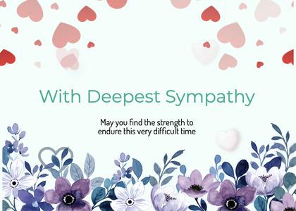 sympathy card 185 paper flower