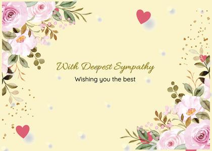 sympathy card 193 floraldesign graphics