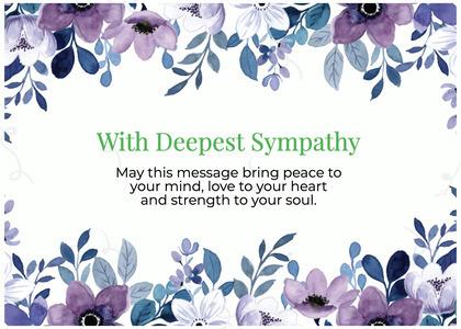 sympathy card 194 plant floraldesign