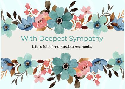 sympathy card 196 floraldesign graphics