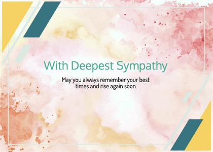 sympathy card 197 flyer brochure