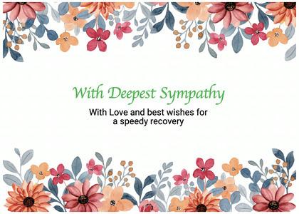 sympathy card 200 paper envelope
