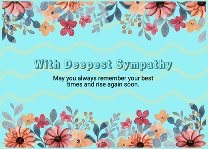 sympathy card 202 floraldesign art