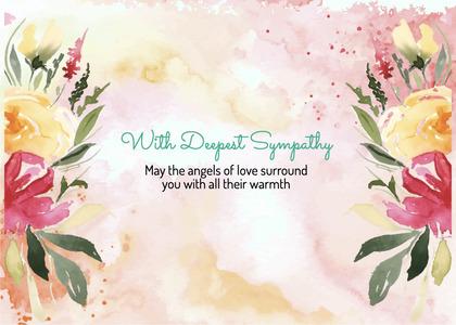 sympathy card 204 floraldesign graphics