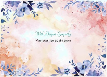 sympathy card 209 floraldesign graphics