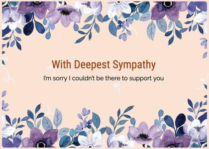sympathy card 210 floraldesign graphics