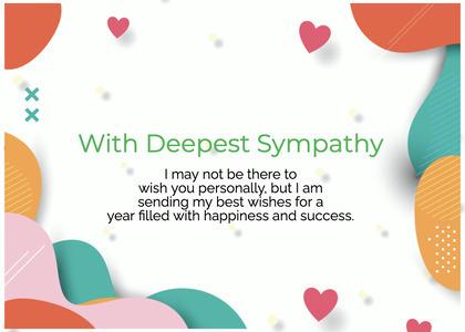 sympathy card 222 paper confetti