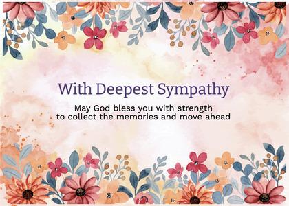 sympathy card 225 flyer brochure
