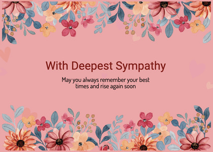 sympathy card 229 envelope mail