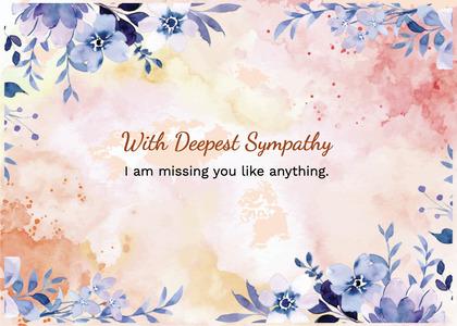 sympathy card 232 floraldesign graphics