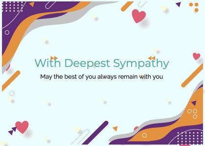 sympathy card 238 paper text