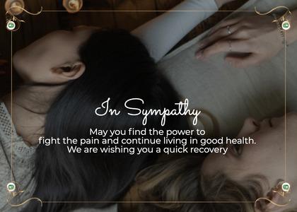 sympathy card 24 person human