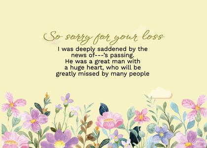 sympathy card 266 floraldesign graphics