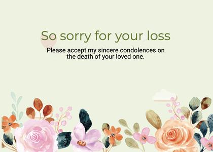 sympathy card 267 floraldesign graphics