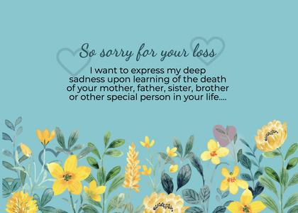 sympathy card 271 plant flower