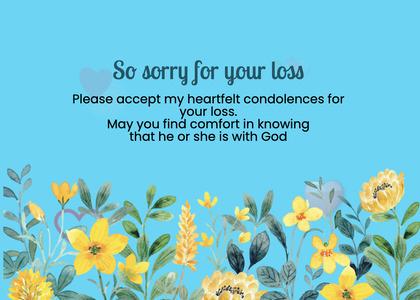 sympathy card 278 plant poster