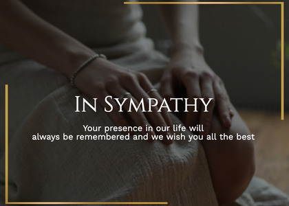 sympathy card 39 person human