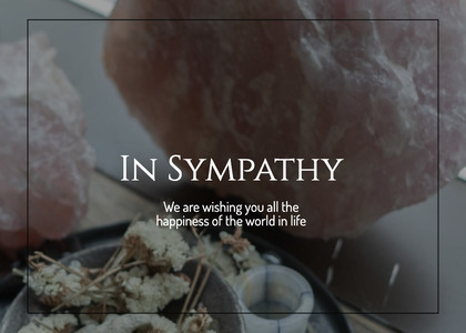 sympathy card 40 plant food