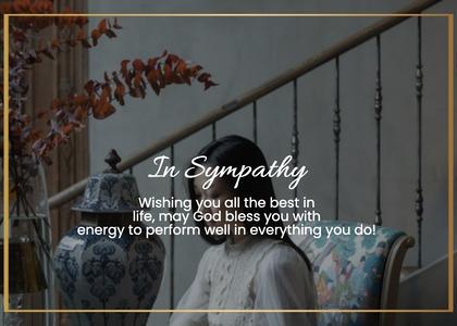 sympathy card 42 person human