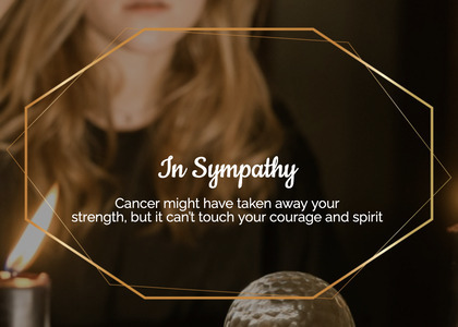 sympathy card 44 person human