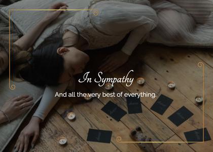 sympathy card 45 person human