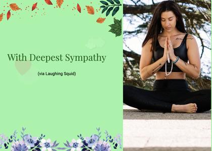 sympathy card 50 person female