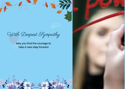 sympathy card 54 person human