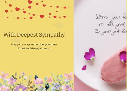 sympathy card 58 envelope petal