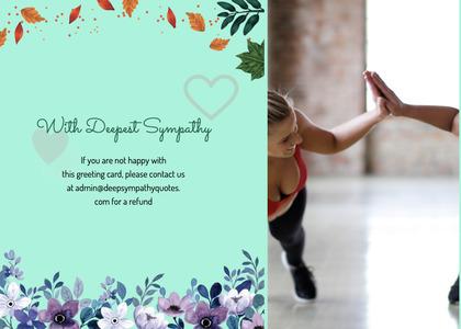 sympathy card 59 person menu