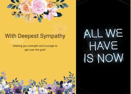 sympathy card 60 flyer brochure
