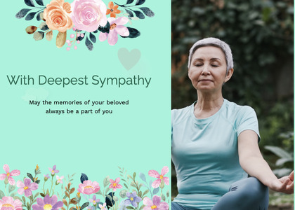 sympathy card 62 person human