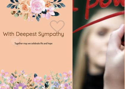 sympathy card 63 person human