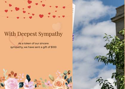 sympathy card 66 paper flyer