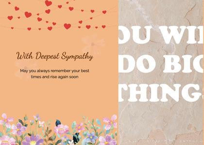 sympathy card 68 paper flyer