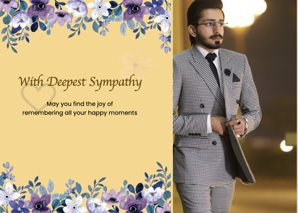 sympathy card 74 person clothing