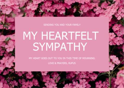 sympathy card 8 plant flower