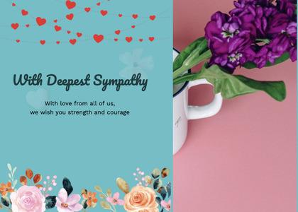 sympathy card 81 paper flyer