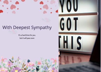 sympathy card 82 text paper